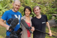 Janina Hartwig mit unserem Kamerateam