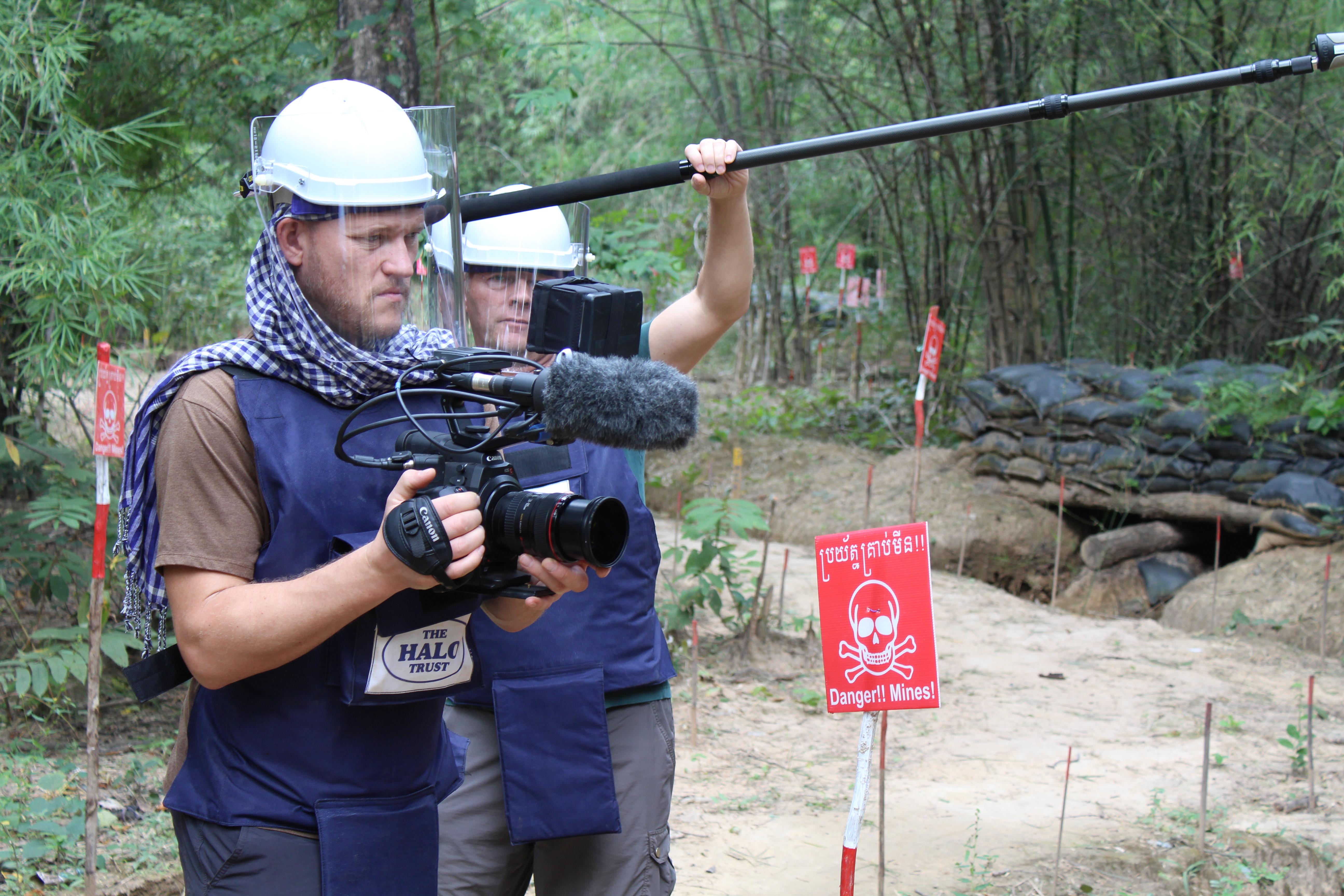 Filmteam in Kambodscha